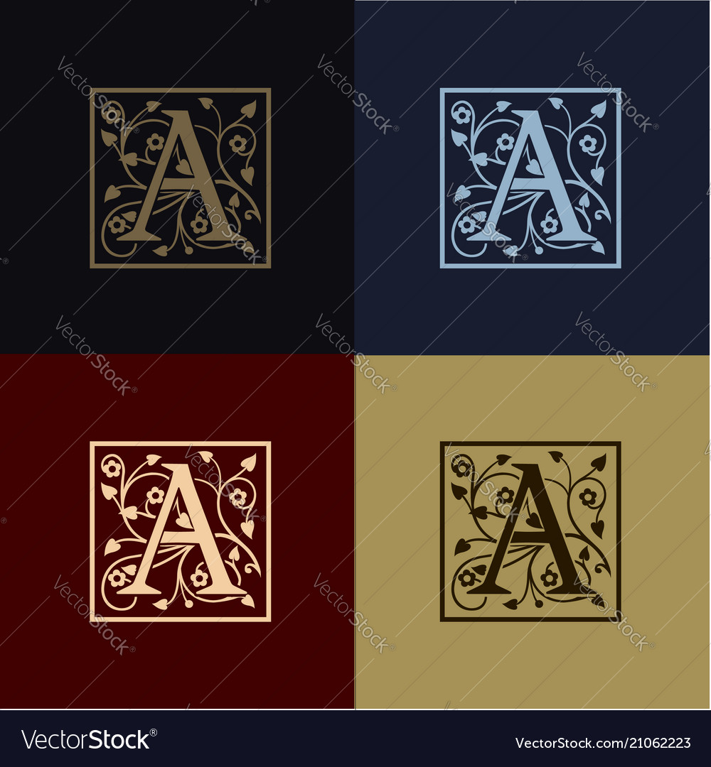 Letter a decoration logo vector