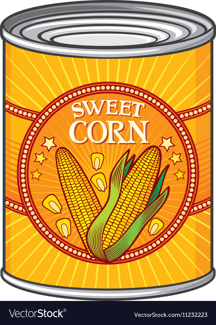 Sweet Corn Can vector image