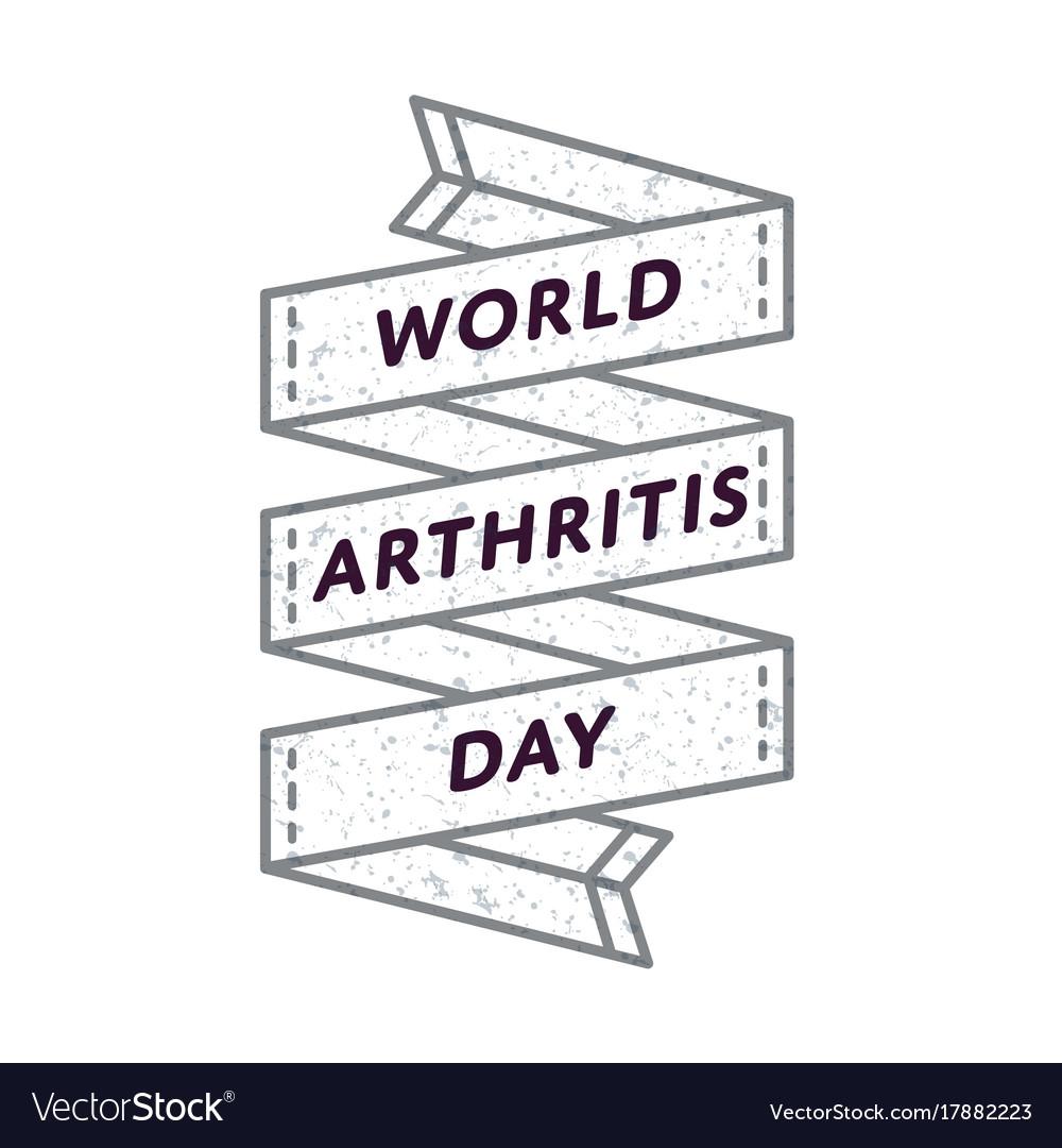 World arthritis day greeting emblem