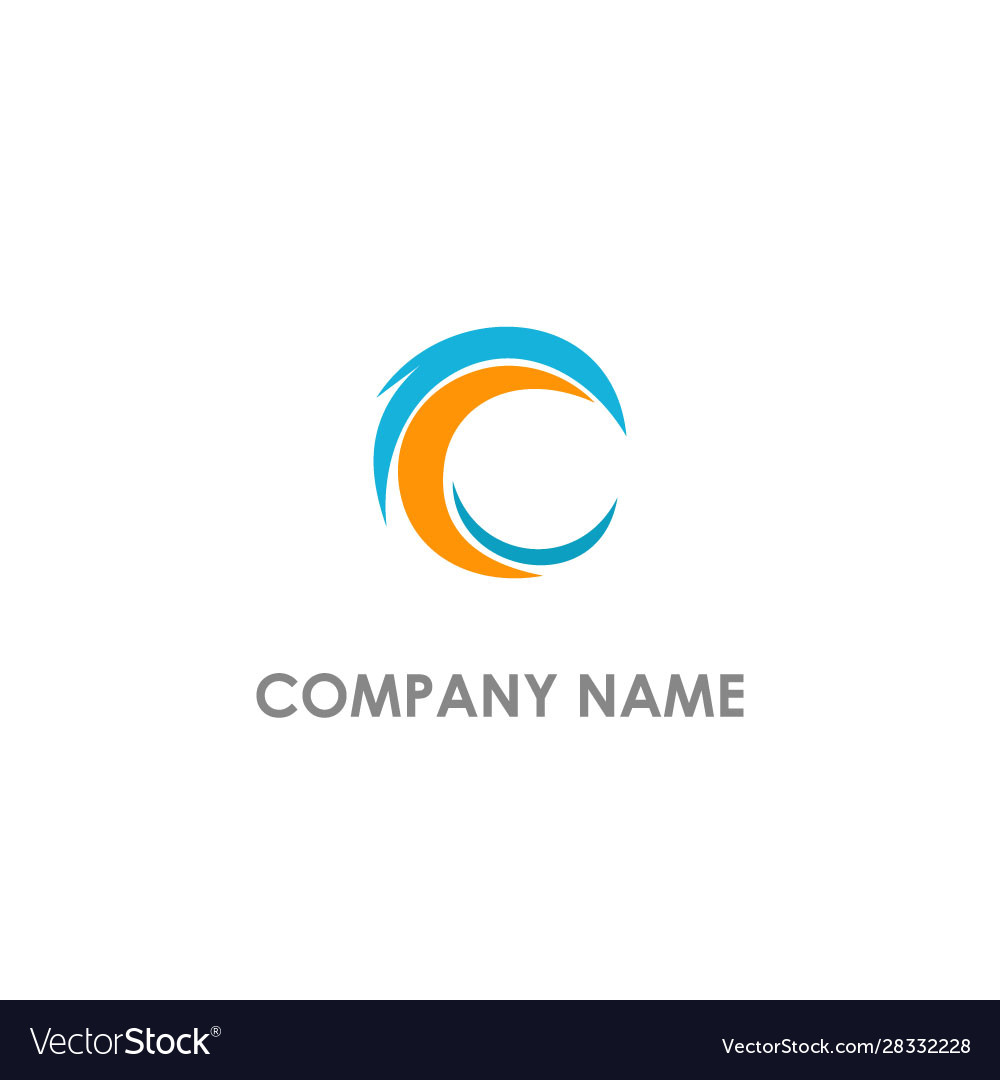 C abstract colored logo