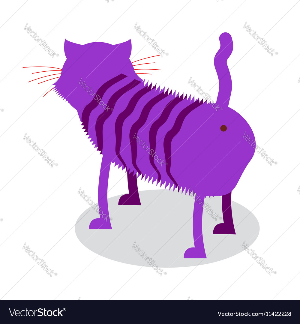 Cheshire Cat Fantastic pet is backwards Magic vector image
