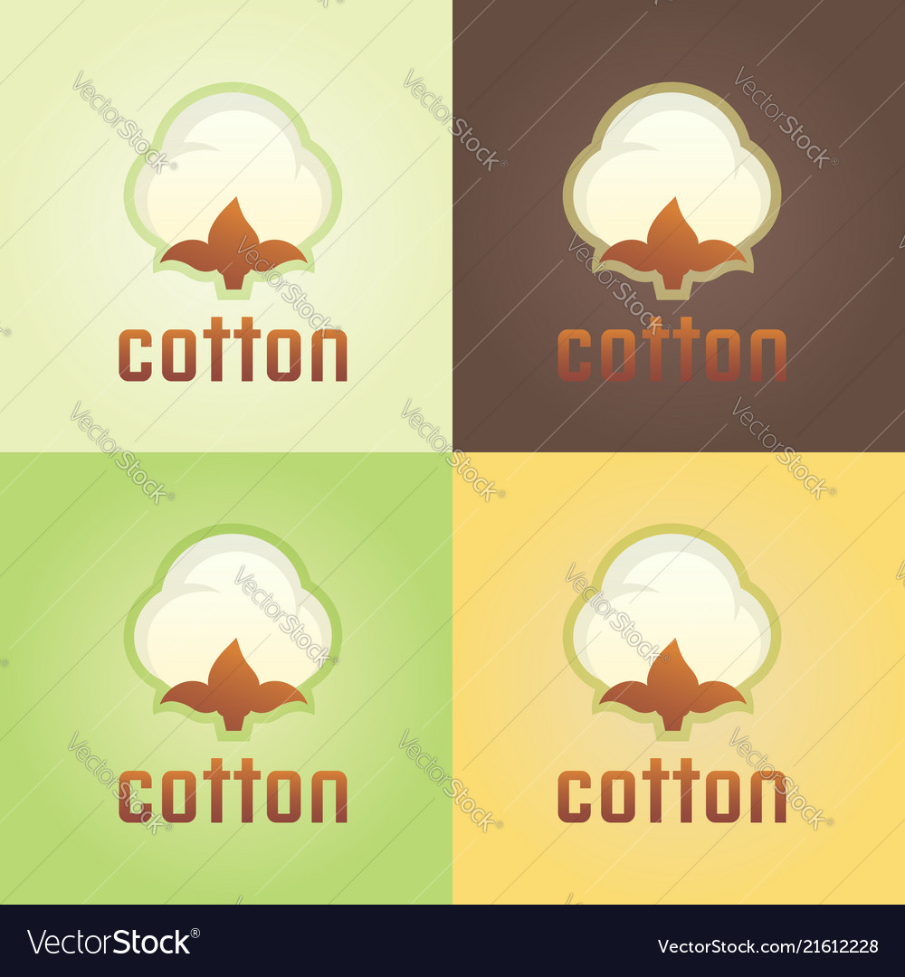 Cotton isolated logo template