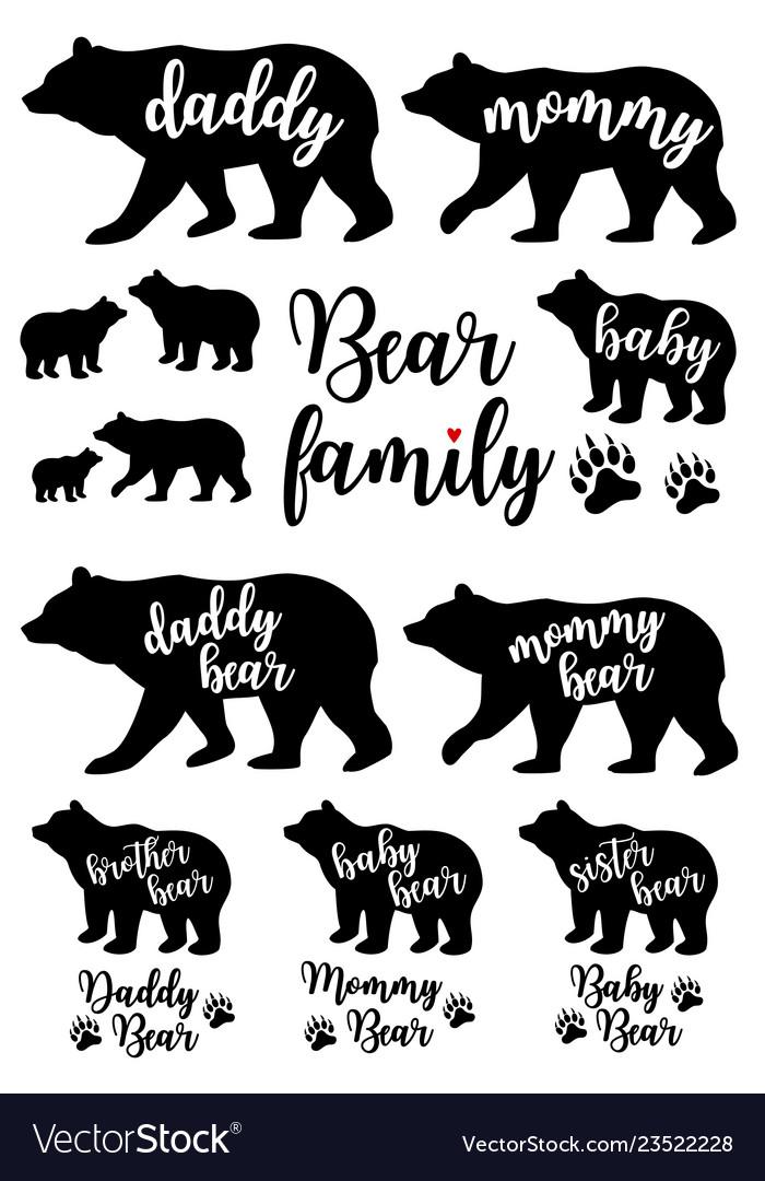 Daddy bear mommy bear babear set