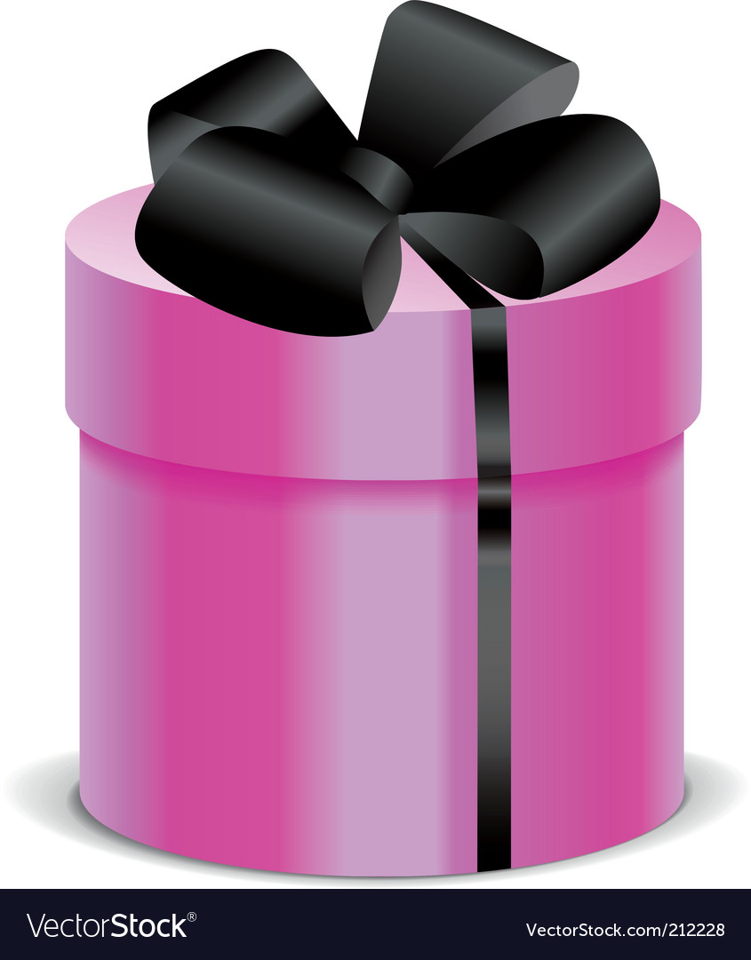 Gift box with silk bow vector image
