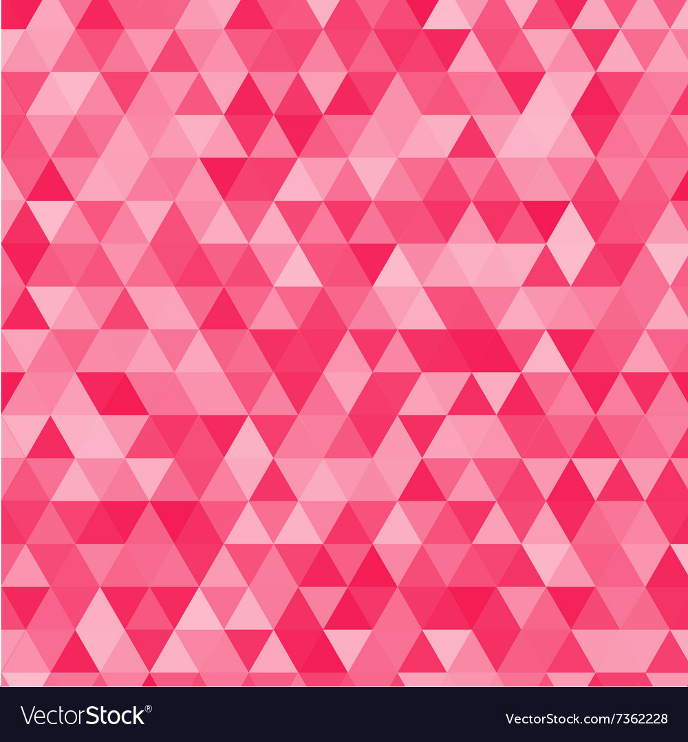 pink triangles background royalty free vector image