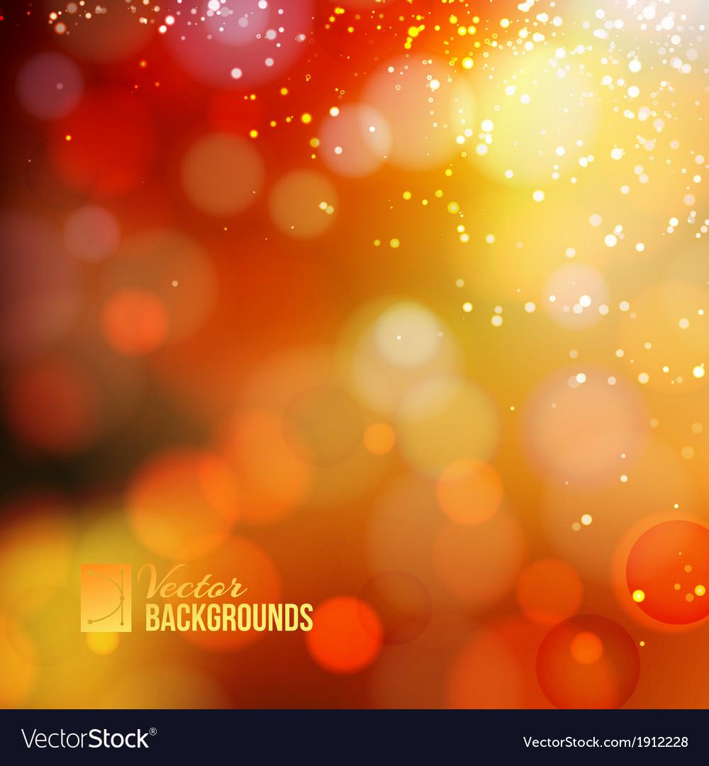 Yellow shine background vector image