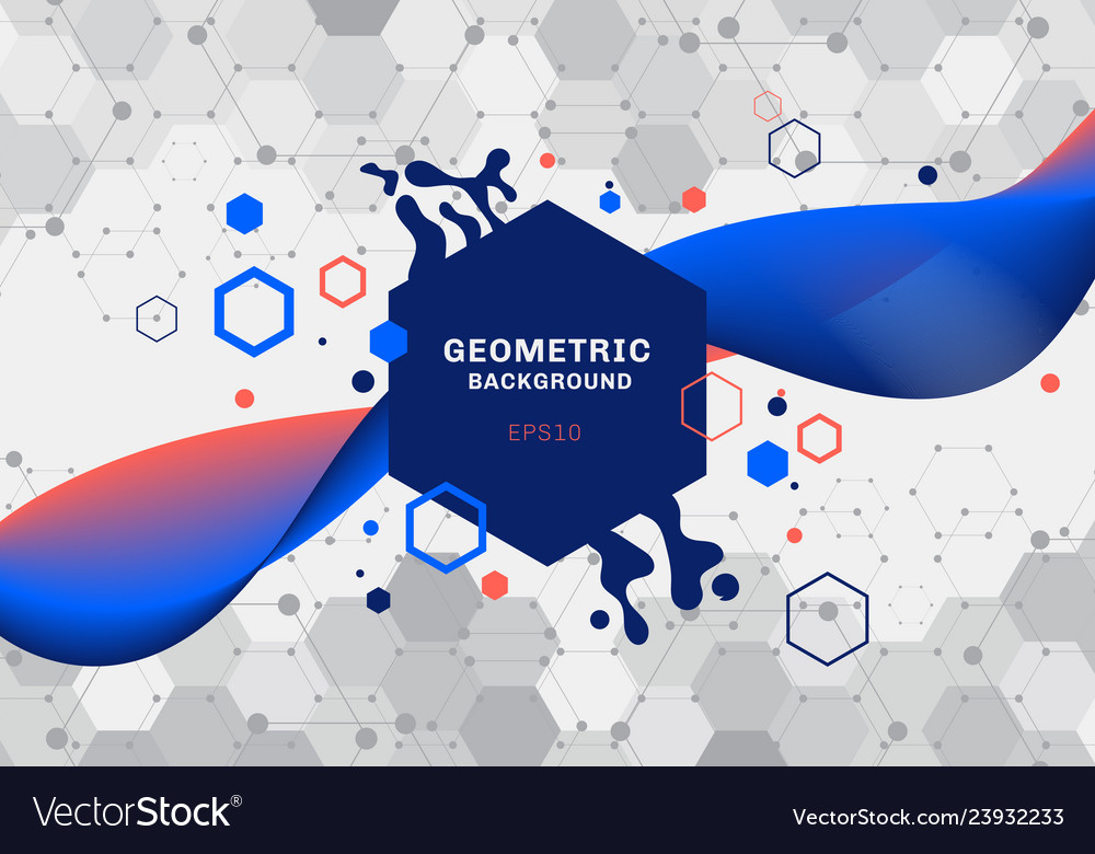 Abstract composition of geometric shapes and