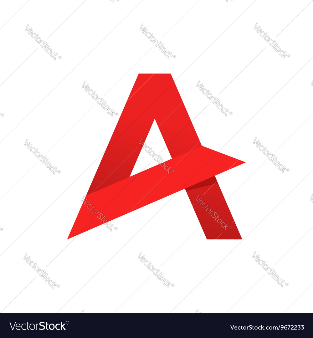 Abstract letter A logo template sharp
