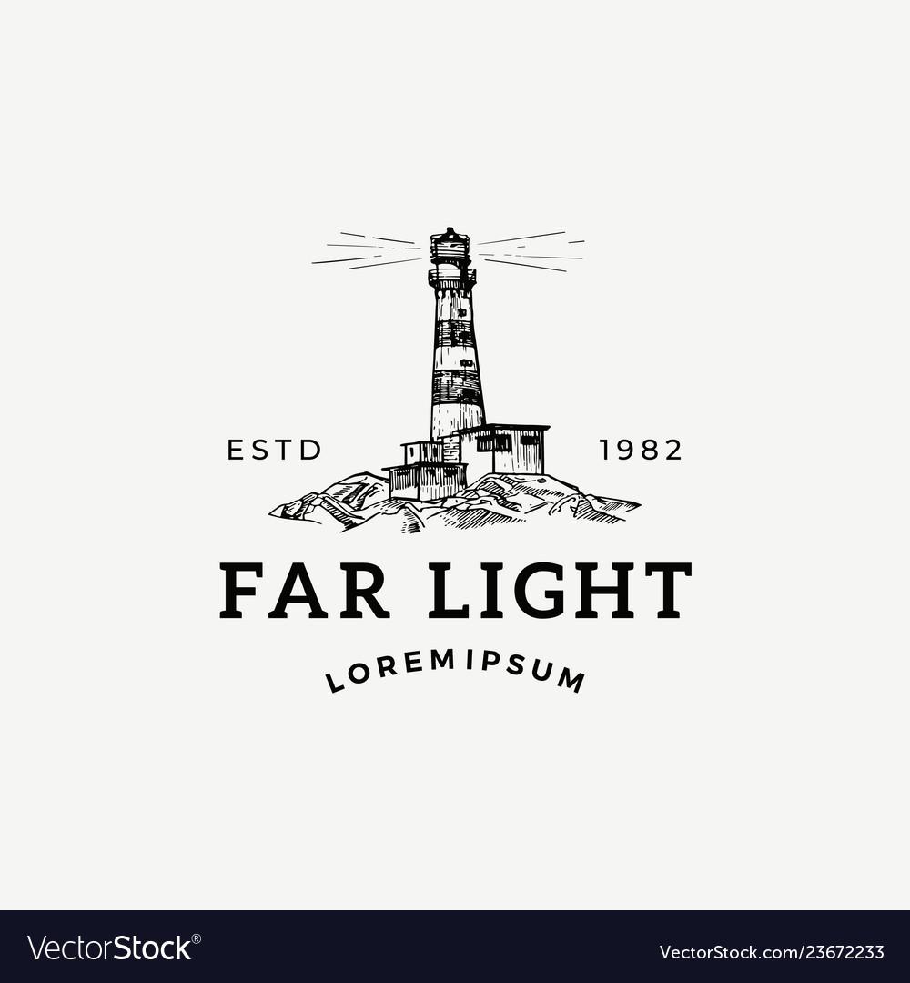 Far light abstract sign symbol or logo