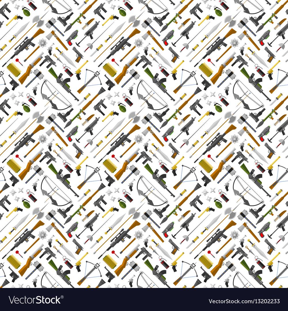 Flat seamless pattern weapons format