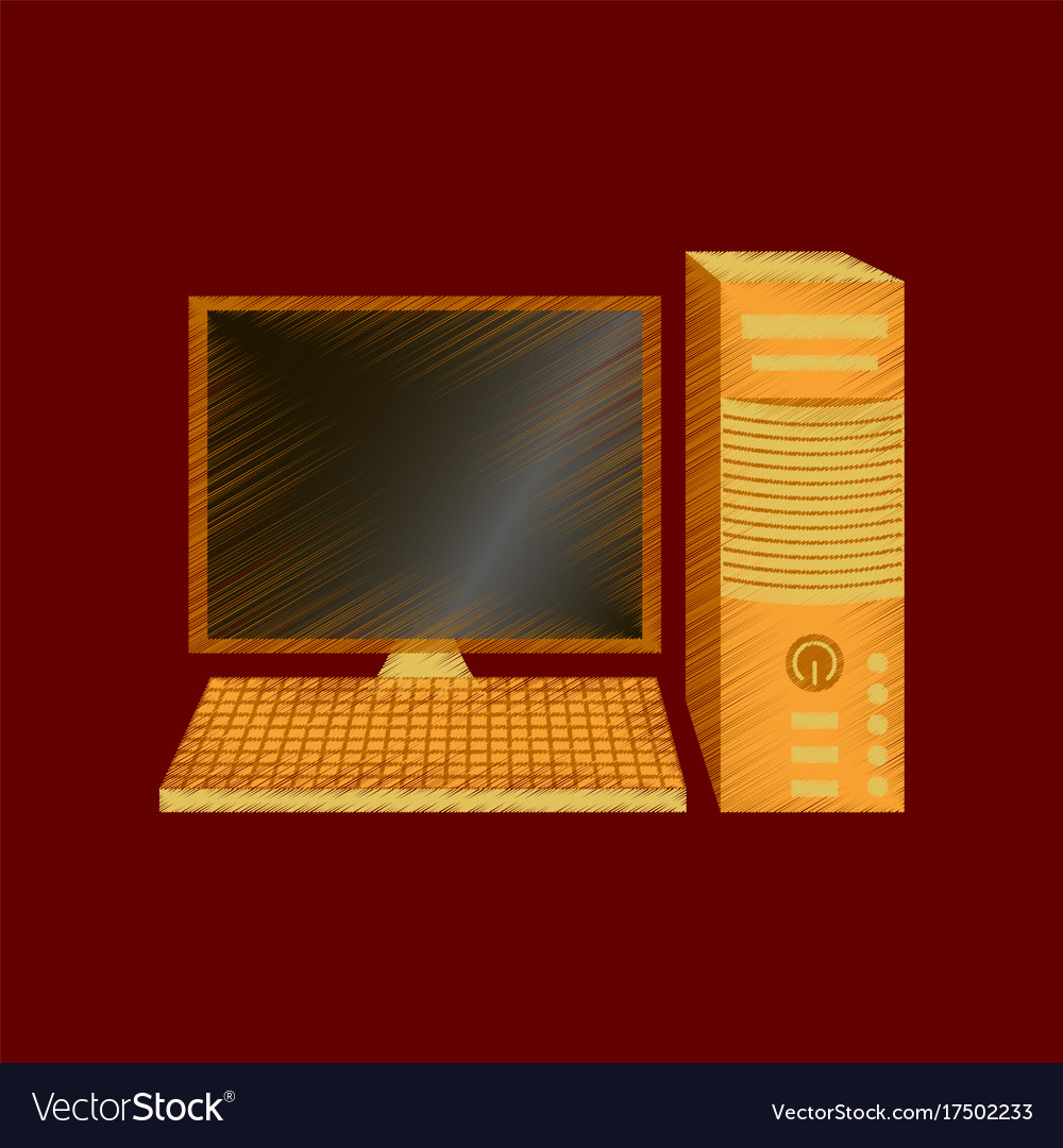 Flat shading style icon fixed computer vector image