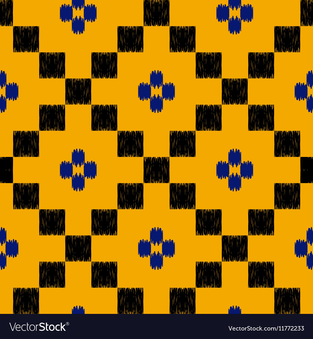 Hand drawn tribal seamless pattern in mexican
