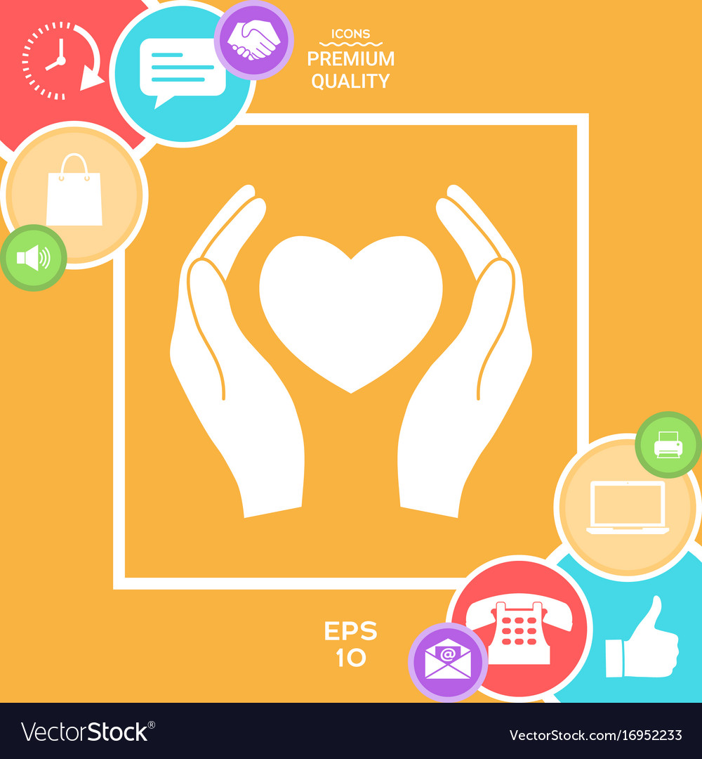 Hands holding heart symbol