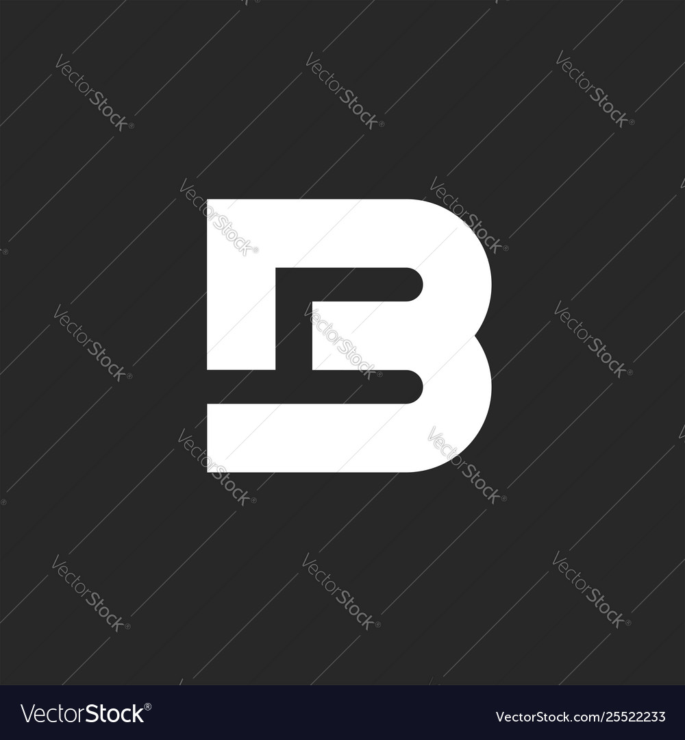 Letter logo b bold monogram style or b4