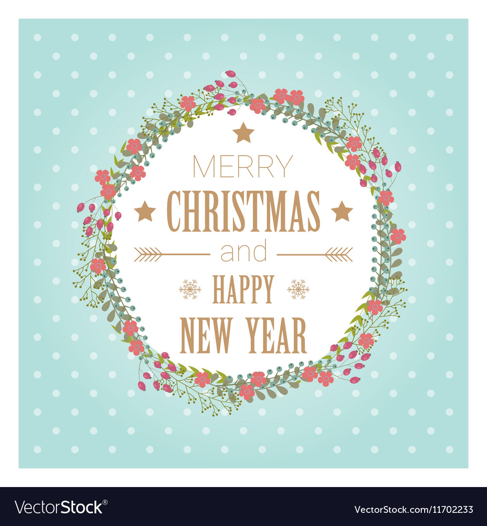 Merry Christmas and Happy New Year greeting card 3