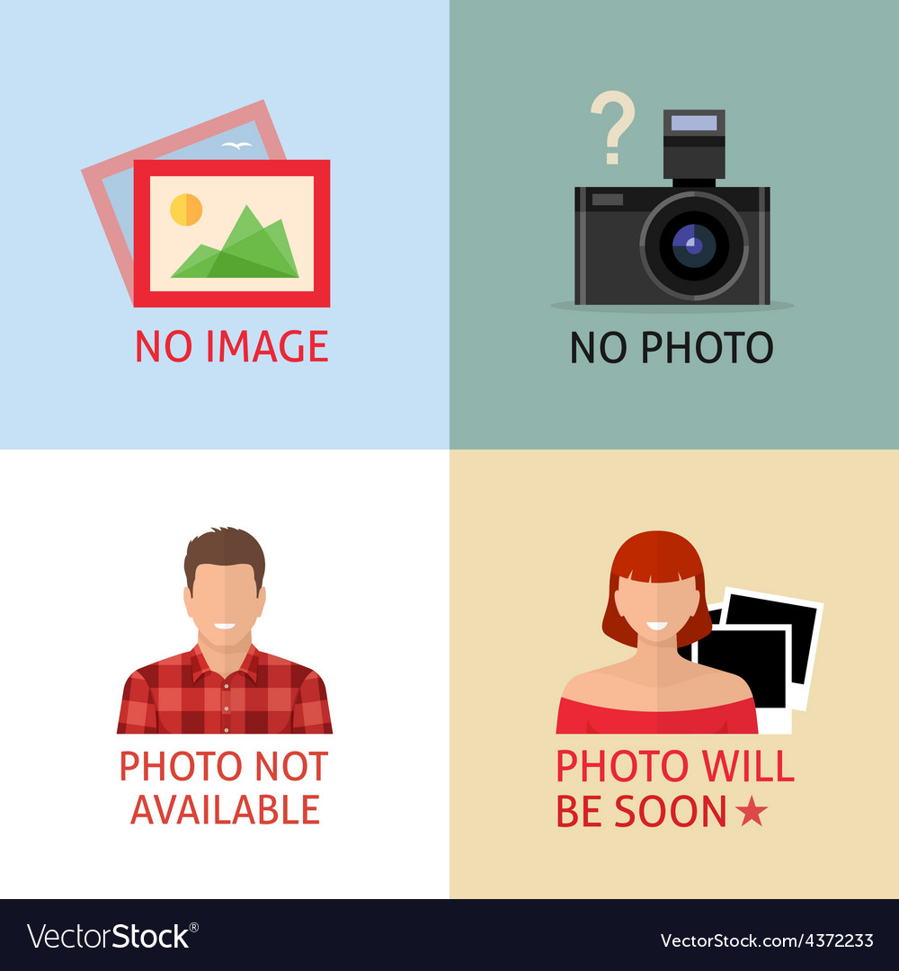No image or photo signs for web page