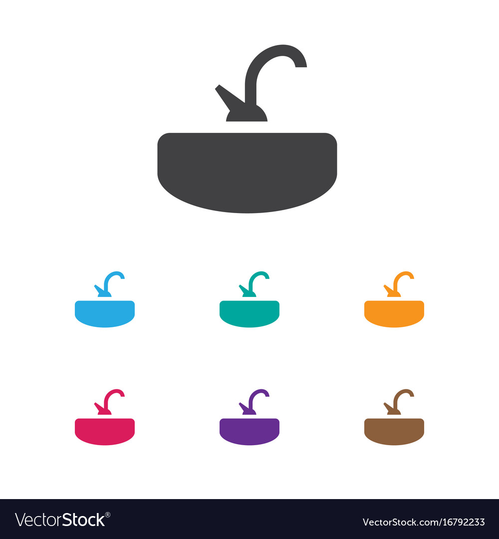 Of cleaning symbol on sink vector image