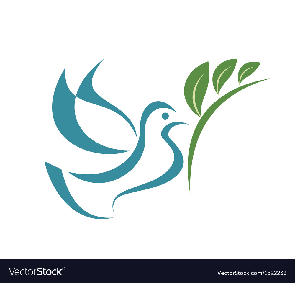 Pigeon peace isolated symbol
