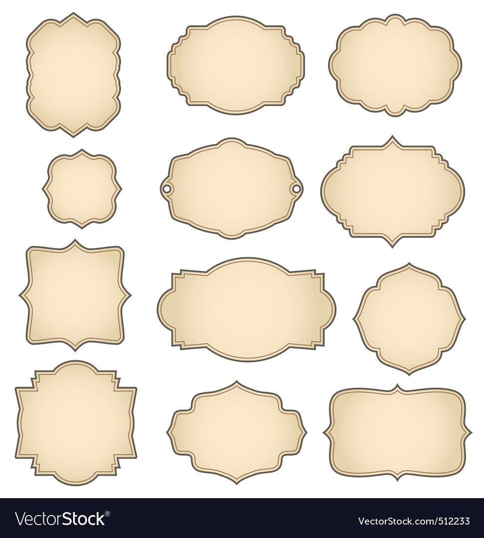 Retro frames Royalty Free Vector Image - VectorStock