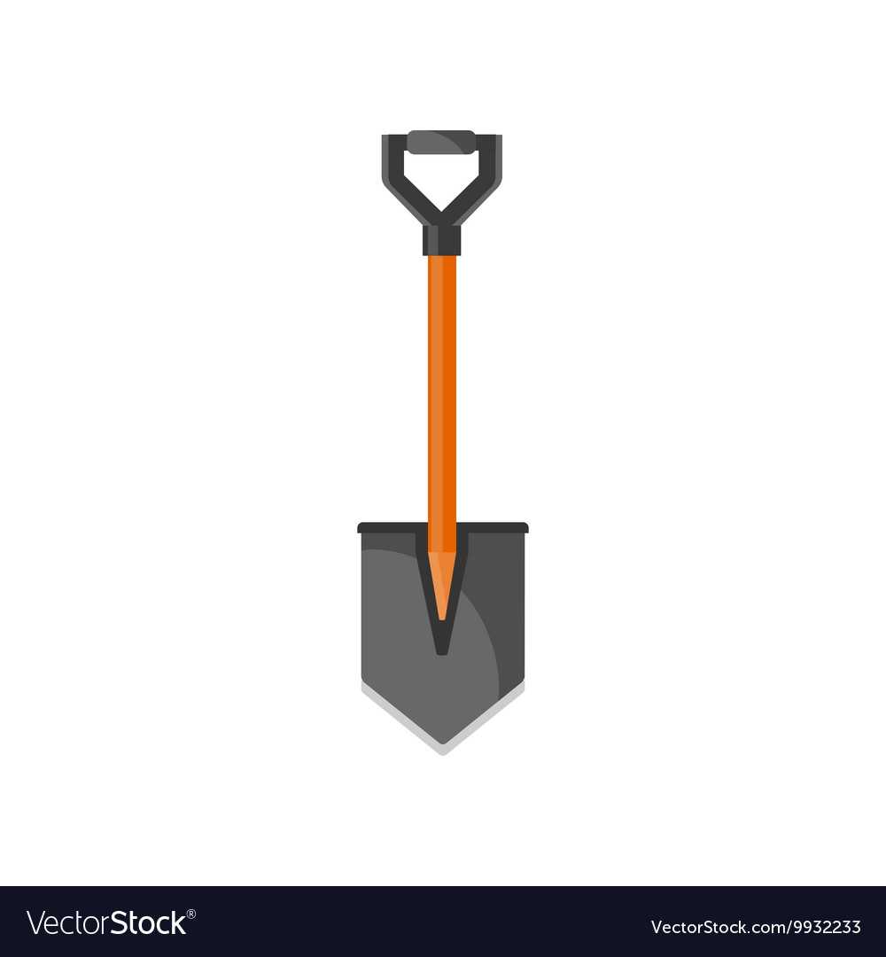 Shovel in a flat style for campingGarden tool
