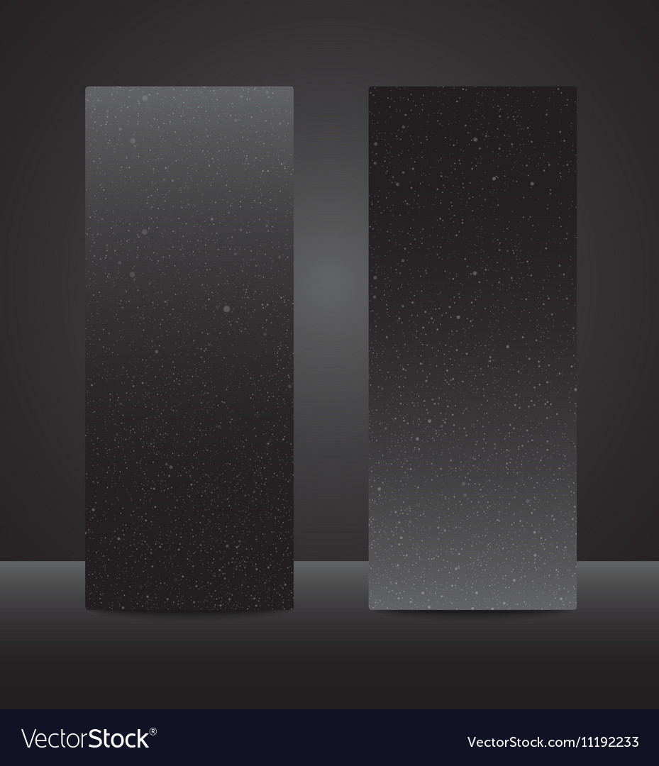 Vertical Rectangle Black Banners Snow Winter