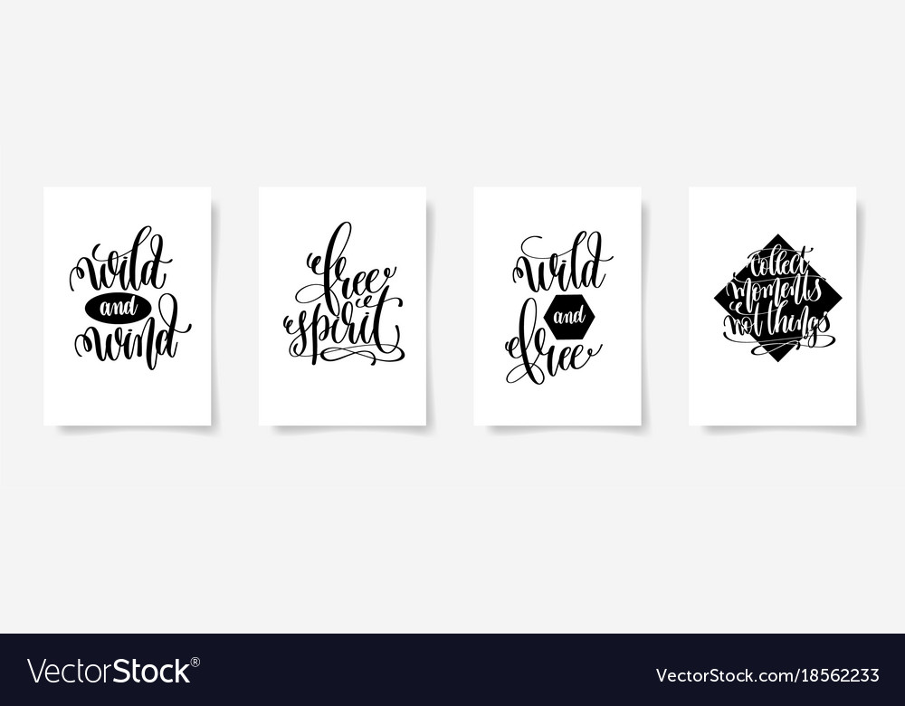 Wild and wind free spirit wild and free collect vector image