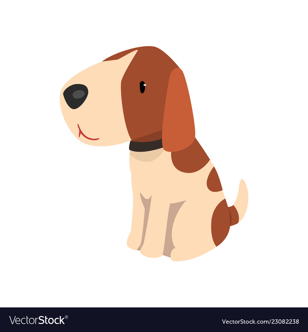 Beagle Dog Cute Funny Animal Cartoon Character Vector Image