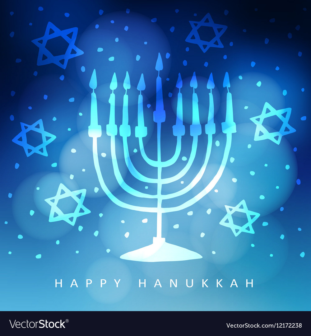 Hanukkah greeting card invitation with hand drawn vector image m4hsunfo