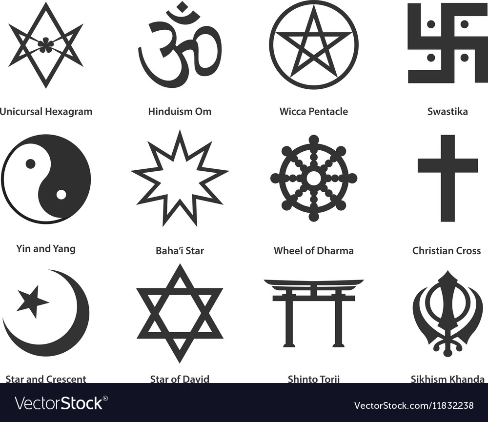 icon set of world religious symbols royalty free vector