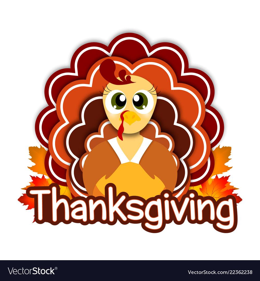 Thanksgiving greeting design with turkey