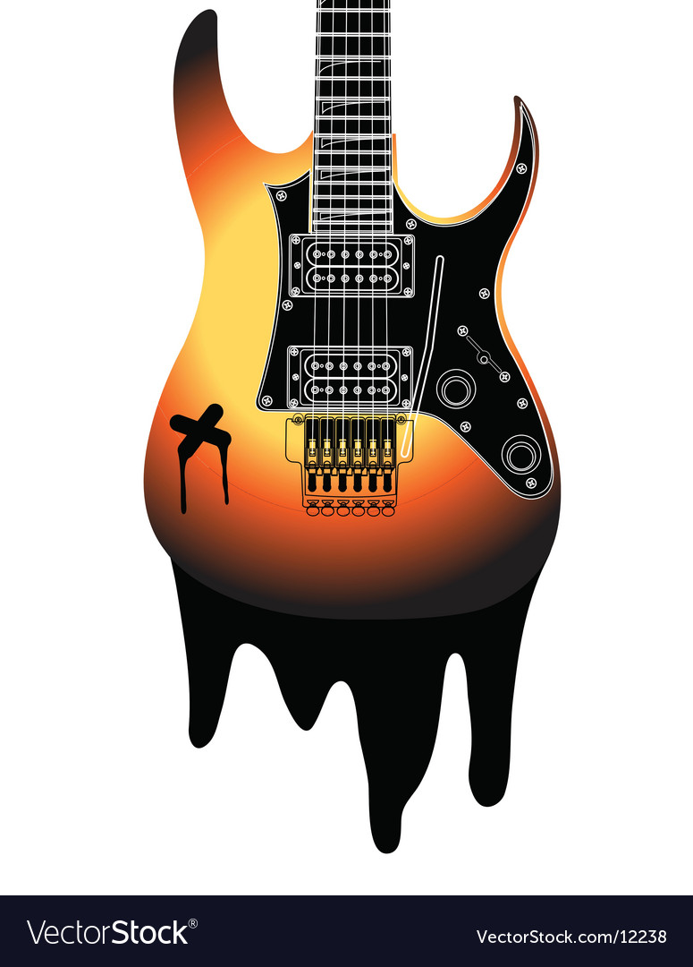 Urban Guitar Illustration Royalty Free Vector Image