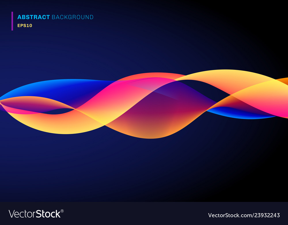 Abstract fluid with dynamic effect lines waves