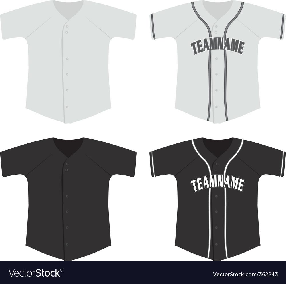 baseball jersey vector image