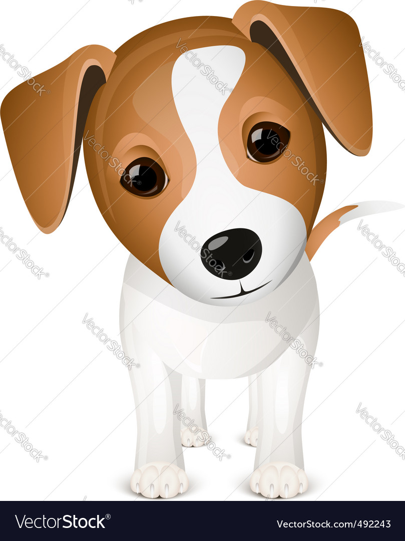 Cartoon Dog Royalty Free Vector Image Vectorstock