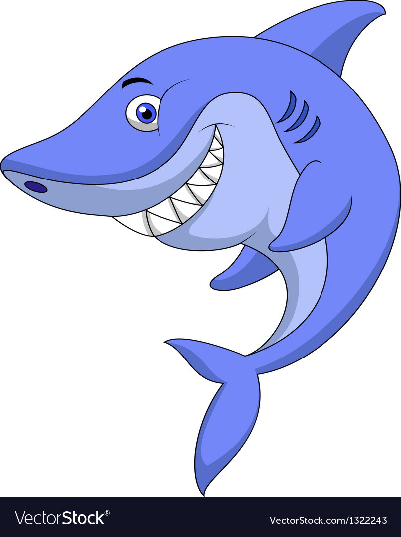 shark images cartoon  Cute shark cartoon Royalty Free Vector Image - VectorStock