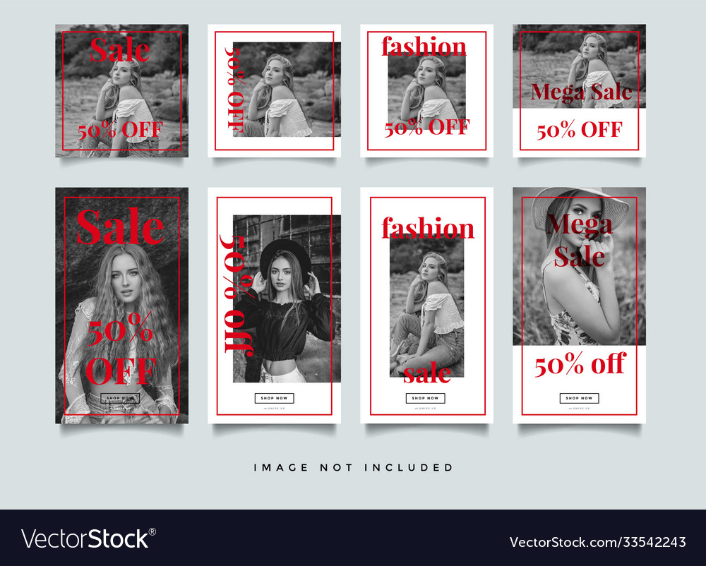 Fashion instagram stories template collection