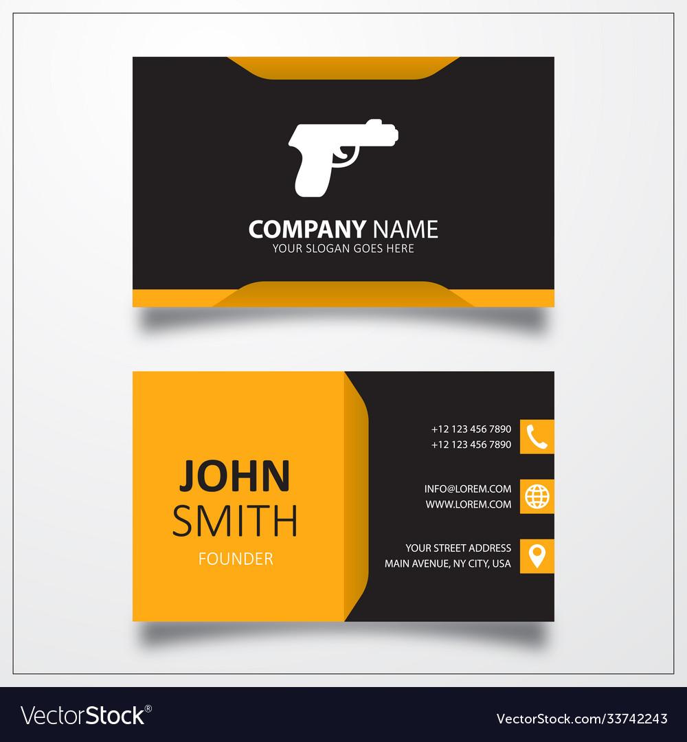 Gun icon business card template
