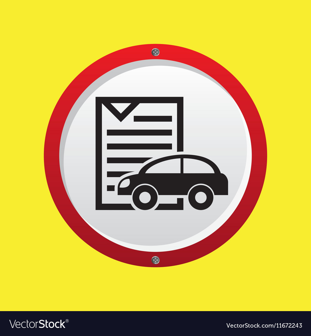Insurance Car Policy Paper Icon Royalty Free Vector Image