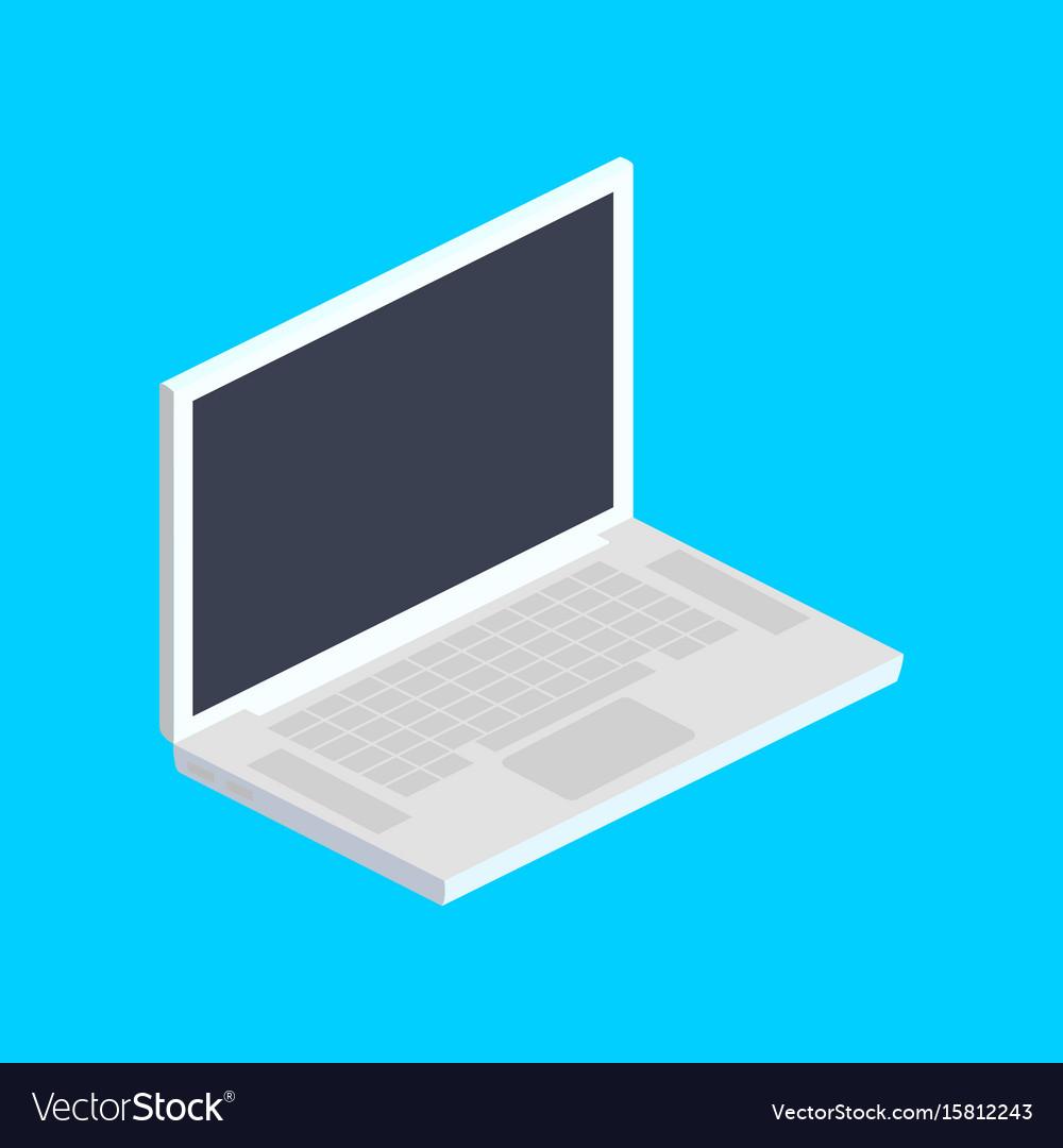Laptop computer isometric