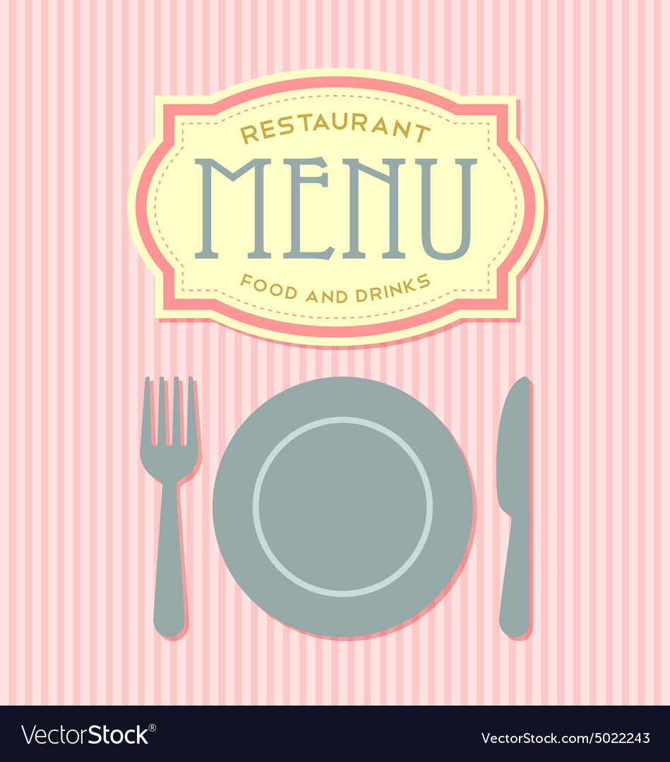 restaurant menu cover template royalty free vector image