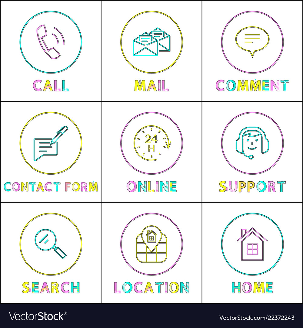 smartphone functions linear round icons templates vector image