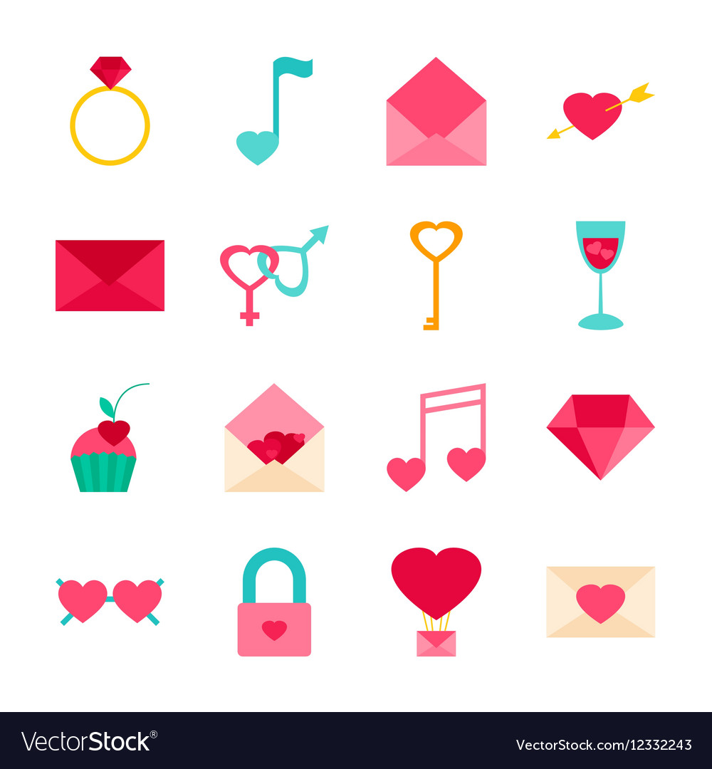 Valentines Day Objects vector image