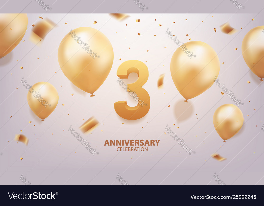 3rd year anniversary celebration background