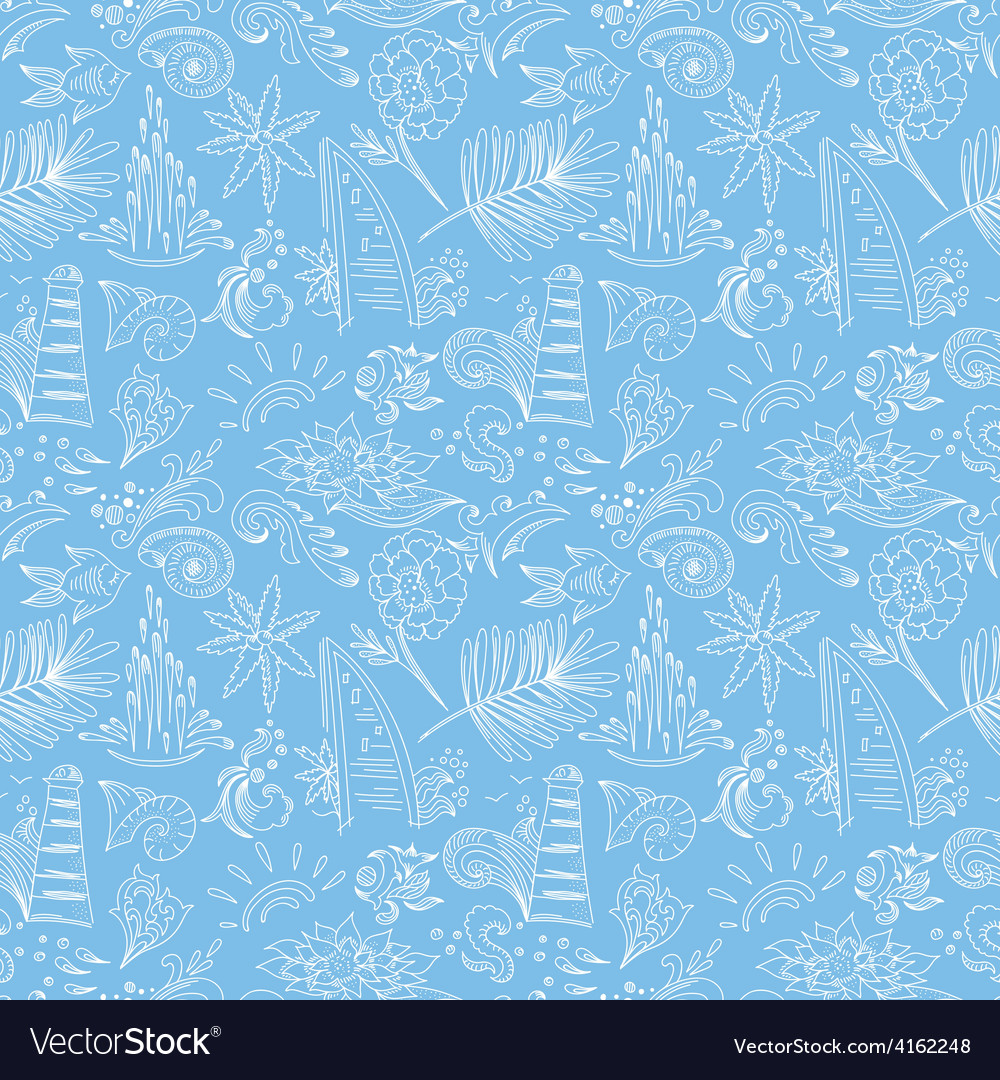Blue travel pattern