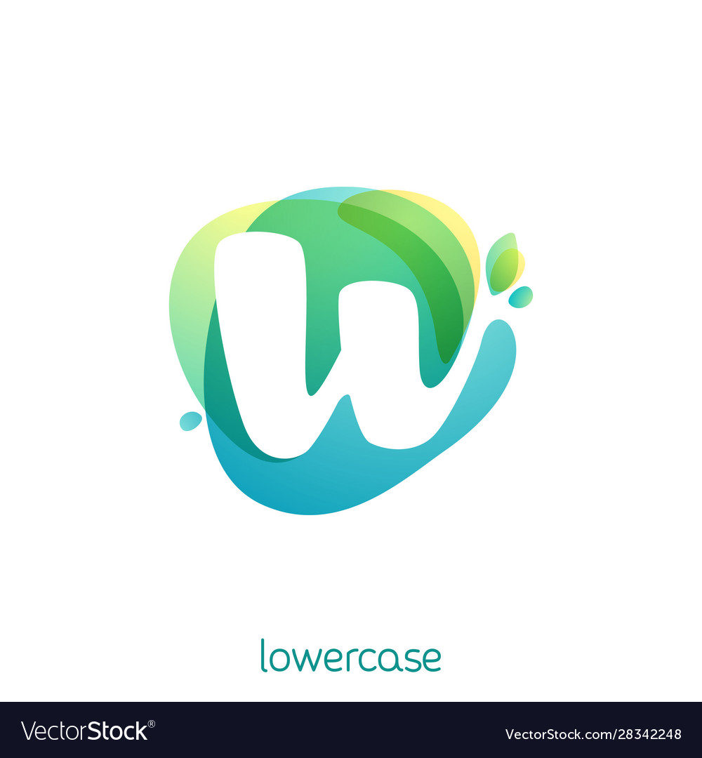 Ecology lowercase letter w logo overlapping