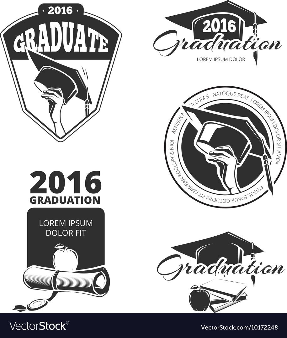 Graduating class badges emblems T-shirt