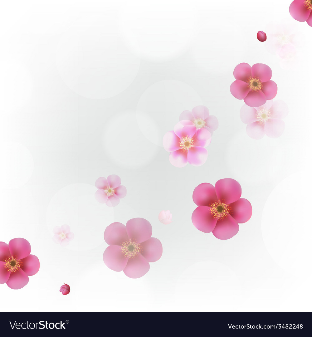 Pastel Flowers Wallpaper vector image