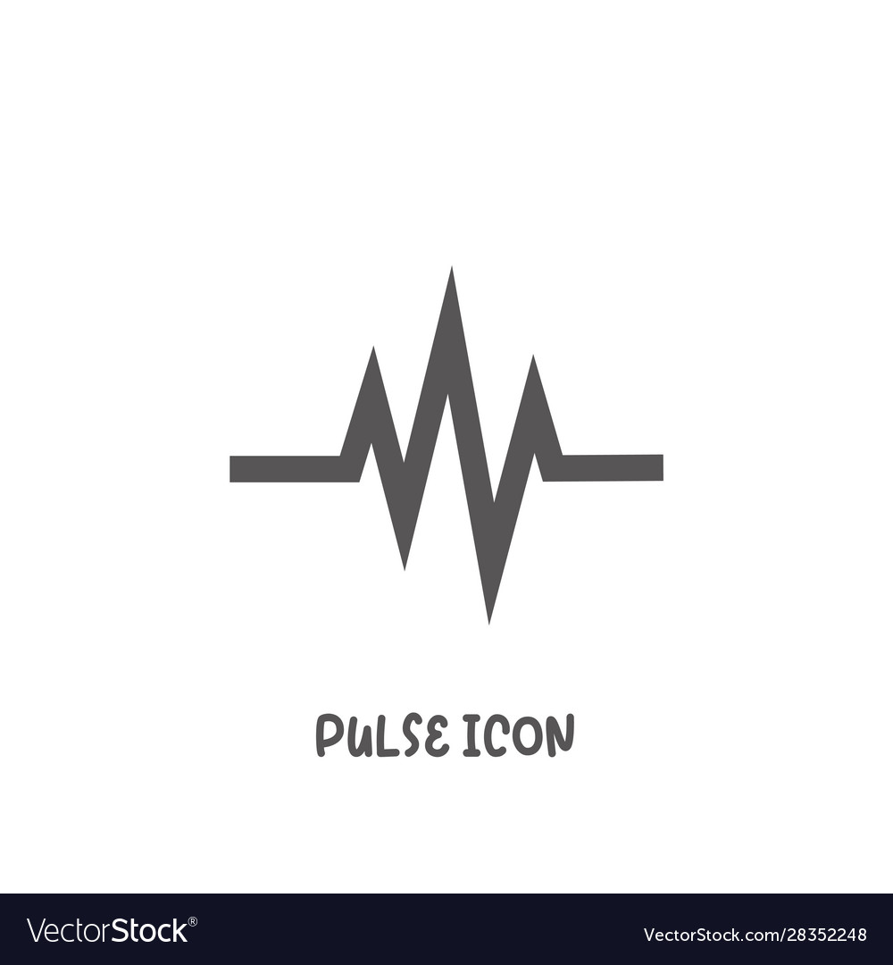 Pulse icon simple flat style