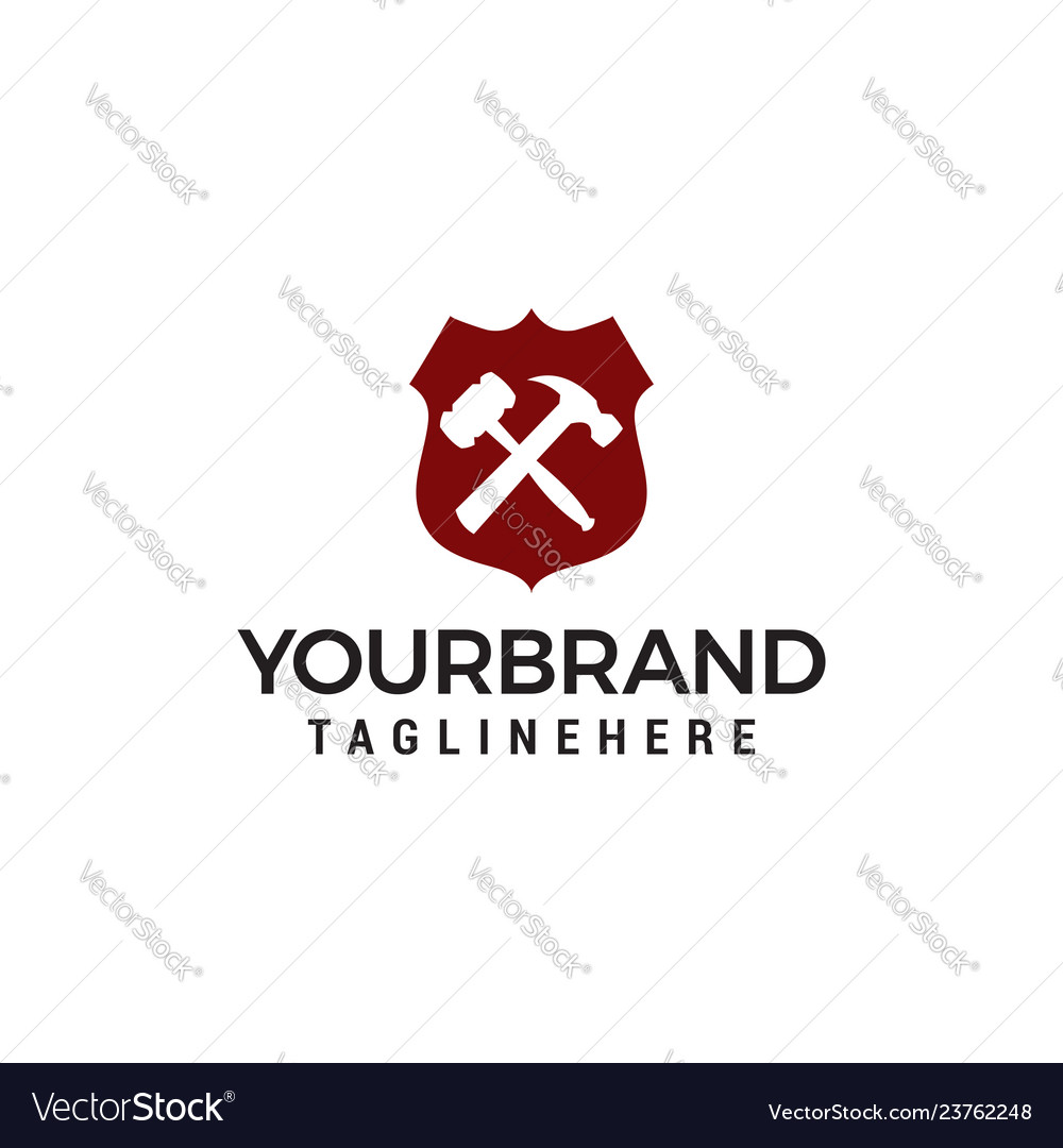 Shield repair plumbing logo template design