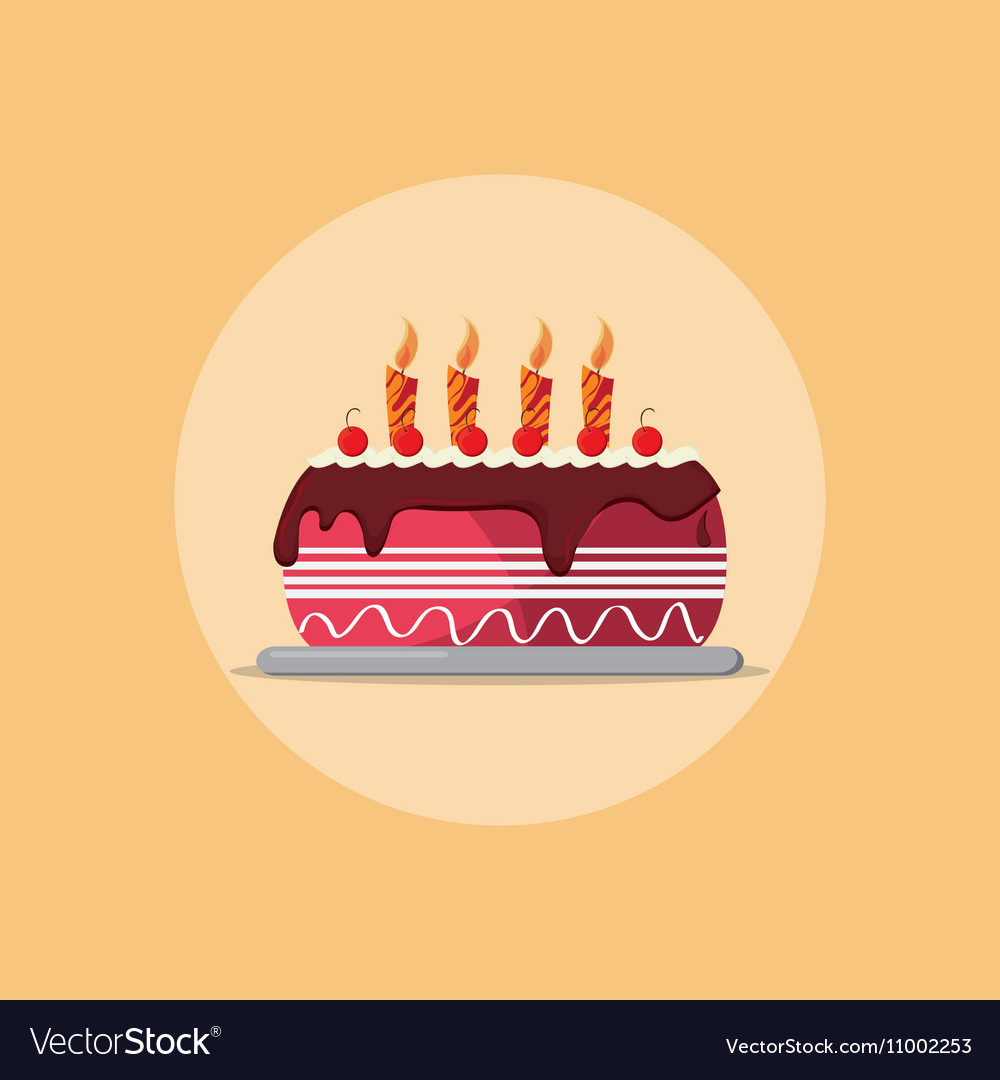 Birthday Cake Party Related Icons Image Royalty Free Vector